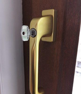 Tilt and slide upvc door handles